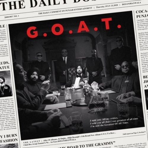 Intro Diljit Dosanjh mp3 song download, G.O.A.T. Diljit Dosanjh full album mp3 song