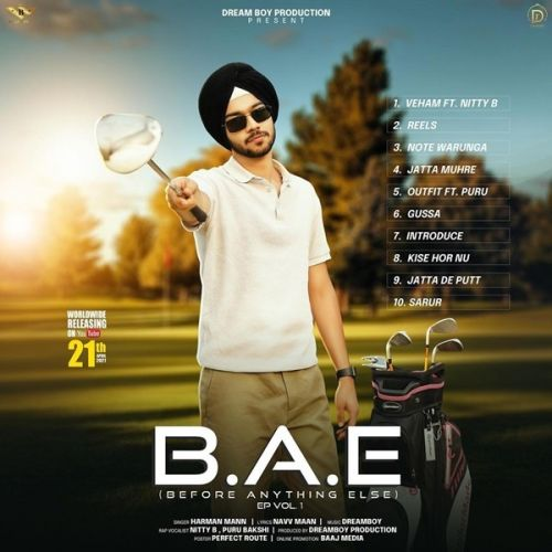 Veham Harman Mann, Nitty B mp3 song download, B.A.E Harman Mann, Nitty B full album mp3 song